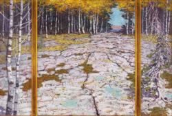 Autumn Forest Contemporary & Modern Art Jigsaw Puzzle