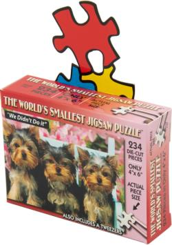 World's Smallest Jigsaw Puzzle - We Didn't Do It Dogs Miniature Puzzle