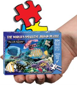 World's Smallest Jigsaw Puzzle - The Life Aquatic - Scratch and Dent Under The Sea Miniature Puzzle