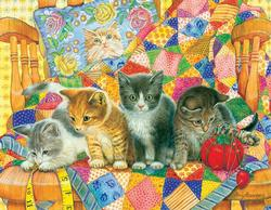 Rocking Kittens Cats Large Piece