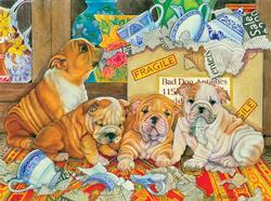 Bad Dog Antiques Dogs Jigsaw Puzzle