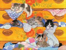 Cozy Dresser Baby Animals Jigsaw Puzzle