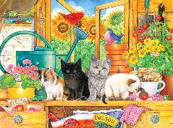 Potting Shed Kittens Baby Animals Jigsaw Puzzle
