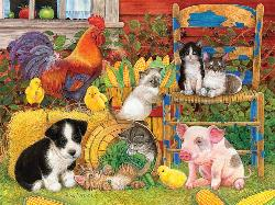 Farm Friends Dogs Jigsaw Puzzle