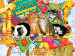 Knit Wits Cats Jigsaw Puzzle