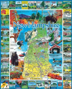 Best of New Hampshire United States Jigsaw Puzzle