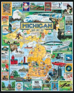 Best of Michigan United States Jigsaw Puzzle