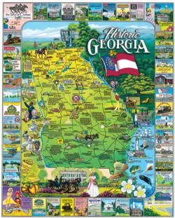 Historic Georgia Maps / Geography Jigsaw Puzzle