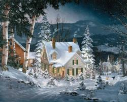 Friends in Winter Snow Jigsaw Puzzle