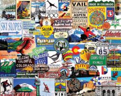 I Love Colorado Collage Jigsaw Puzzle