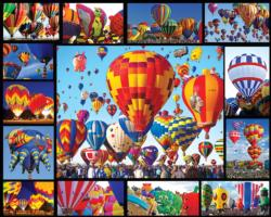 Hot Air Balloons Collage Jigsaw Puzzle