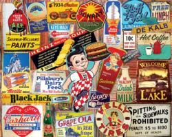 Tin Signs Collage Jigsaw Puzzle