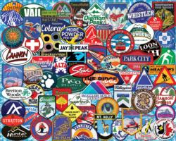 Ski Badges Collage Jigsaw Puzzle