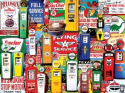 Gas Pumps Pattern / Assortment Jigsaw Puzzle