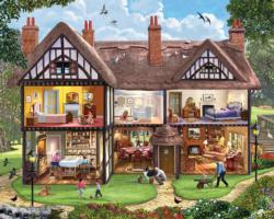 Summer House Domestic Scene Jigsaw Puzzle