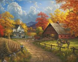 Country Blessing Farm Jigsaw Puzzle