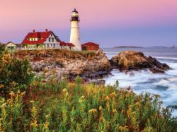 Maine Lighthouse Seascape / Coastal Living Jigsaw Puzzle
