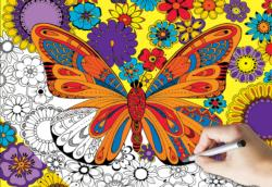 Butterfly Butterflies and Insects Coloring Puzzle