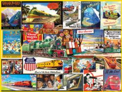 Travel By Train Collage