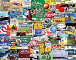 I Love Michigan Collage Impossible Puzzle