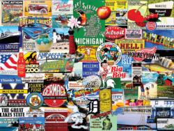 I Love Michigan Collage Jigsaw Puzzle