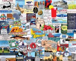 I Love Cape Cod Collage Impossible Puzzle