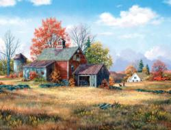 Afternoon Walk Farm Jigsaw Puzzle