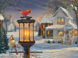 Cardinals in Winter Snow Jigsaw Puzzle