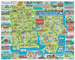 The Kennebunks, Maine Maps / Geography Jigsaw Puzzle