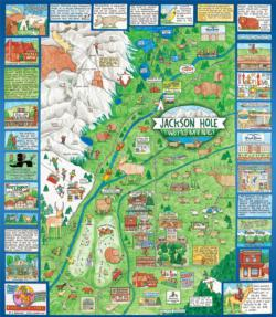Jackson Hole - Scratch and Dent Maps Jigsaw Puzzle