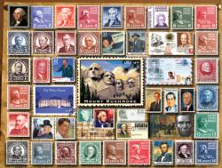 Presidential Stamps Collage Impossible Puzzle