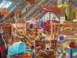 Attic Memories Domestic Scene Jigsaw Puzzle