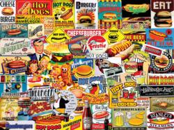 Burgers & Dogs Collage Jigsaw Puzzle