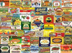 Vintage Food & Drink Collage Jigsaw Puzzle
