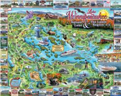 The Lakes Region Landmarks / Monuments Jigsaw Puzzle