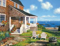 Seaside Cottage Seascape / Coastal Living Jigsaw Puzzle