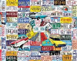 State Plates Collage Large Piece