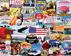 I Love America Collage Jigsaw Puzzle