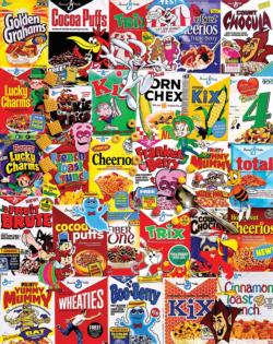 New Cereal Boxes Collage Jigsaw Puzzle