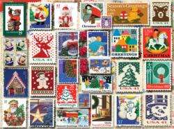 Christmas Stamps Christmas Jigsaw Puzzle