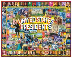 US Presidents Collage Patriotic Jigsaw Puzzle