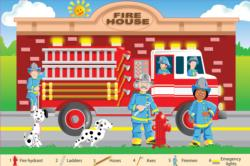 Fire Fighters Vehicles Children's Puzzles