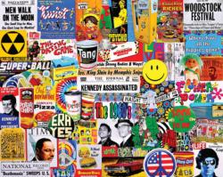 Life in the 60's Collage Jigsaw Puzzle