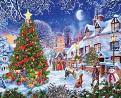 Village Christmas Tree Christmas Jigsaw Puzzle