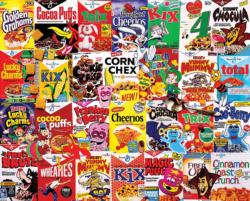 I Love Cereal Collage Large Piece