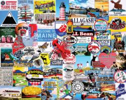 I Love Maine Collage Impossible Puzzle