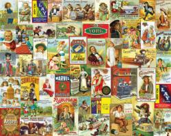 Antique Advertising Collage Jigsaw Puzzle