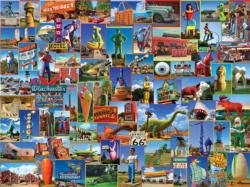 Roadside Marvels Collage Jigsaw Puzzle