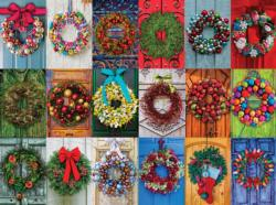Holiday Wreaths Christmas Jigsaw Puzzle