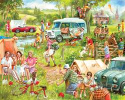 Happy Campers Outdoors Jigsaw Puzzle